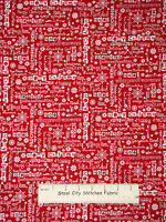 Christmas Snowflake Words Holiday Cotton Fabric Studio E Winter Essentials Yard