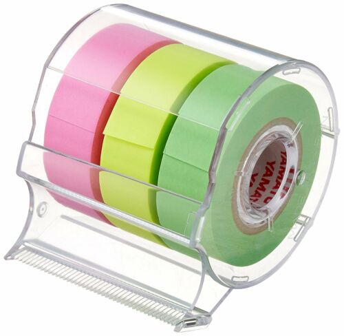 New Yamato Removable Sticky Note Roll tape With Cutter 15mm×10m RK-15CH-B F//S