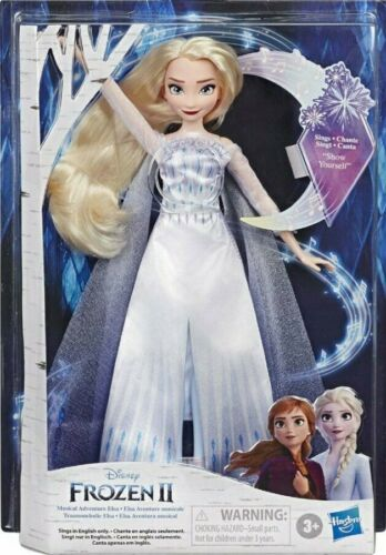 New Snow Queen Outfit Disney Frozen 2 Musical Adventure Singing ELSA Doll