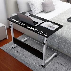 Computer Desk Pc Laptop Table Foldable, Portable Folding Computer Desk Laptop Table Workstation Furniture Black