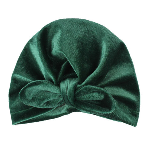 velvet baby hat for girls winter baby photography prop elastic infant turban FO