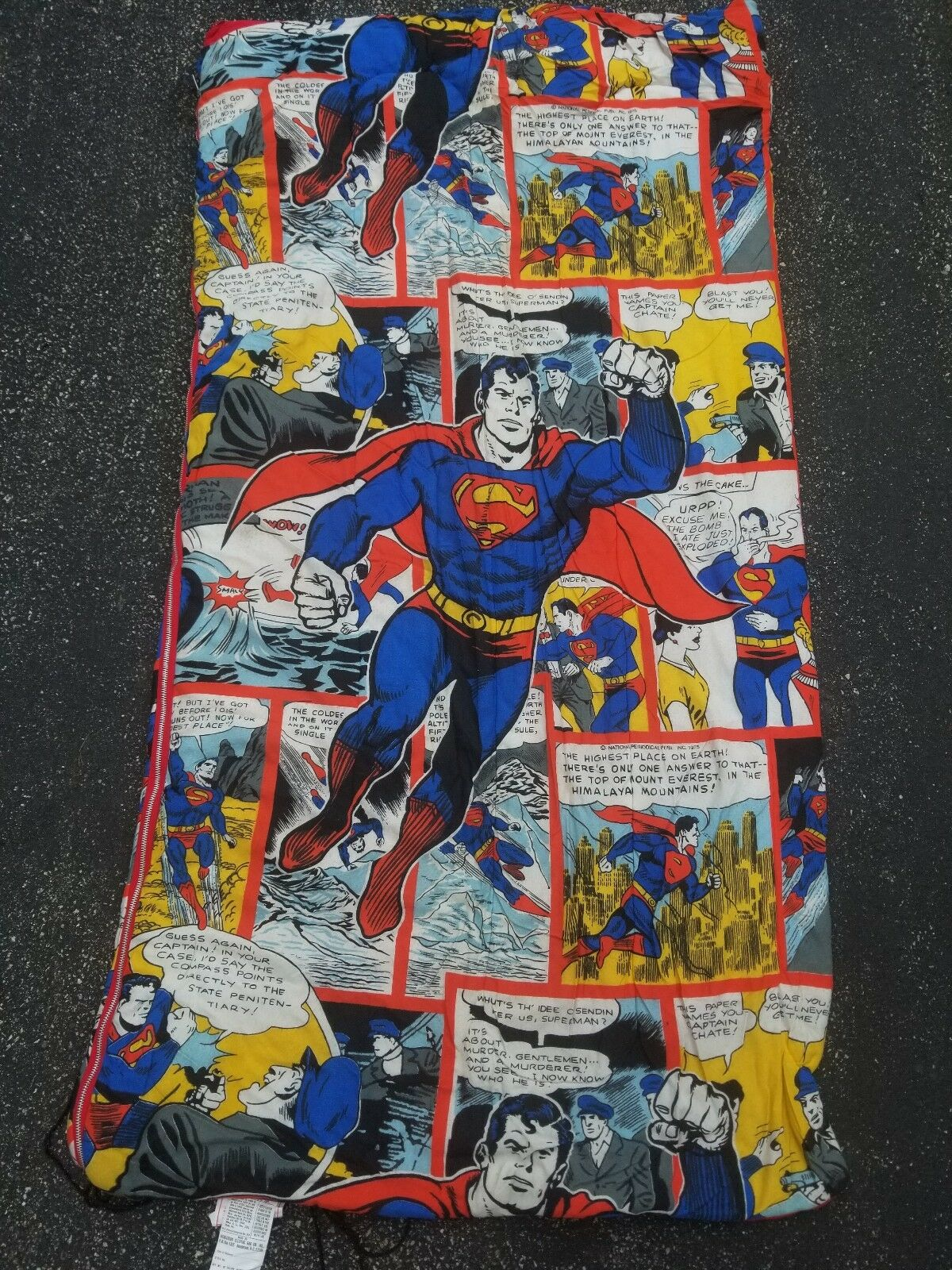 Raro annata 1975 SUPERuomo DC COMICS azione COMICS SLEEPING borsa