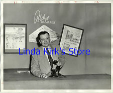 Polsky's Of Akron Photograph Man & Vintage Telephone 8 x 10