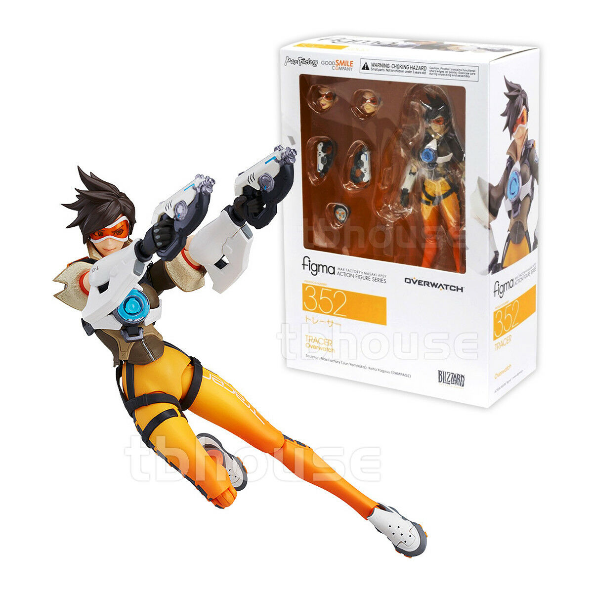 TRACER action figure OVERWATCH blizzard FIGMA company GOOD SMILE lena oxton 352