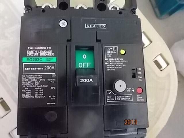 Fuji EG203C 3P 200A Circuit Breaker NEW