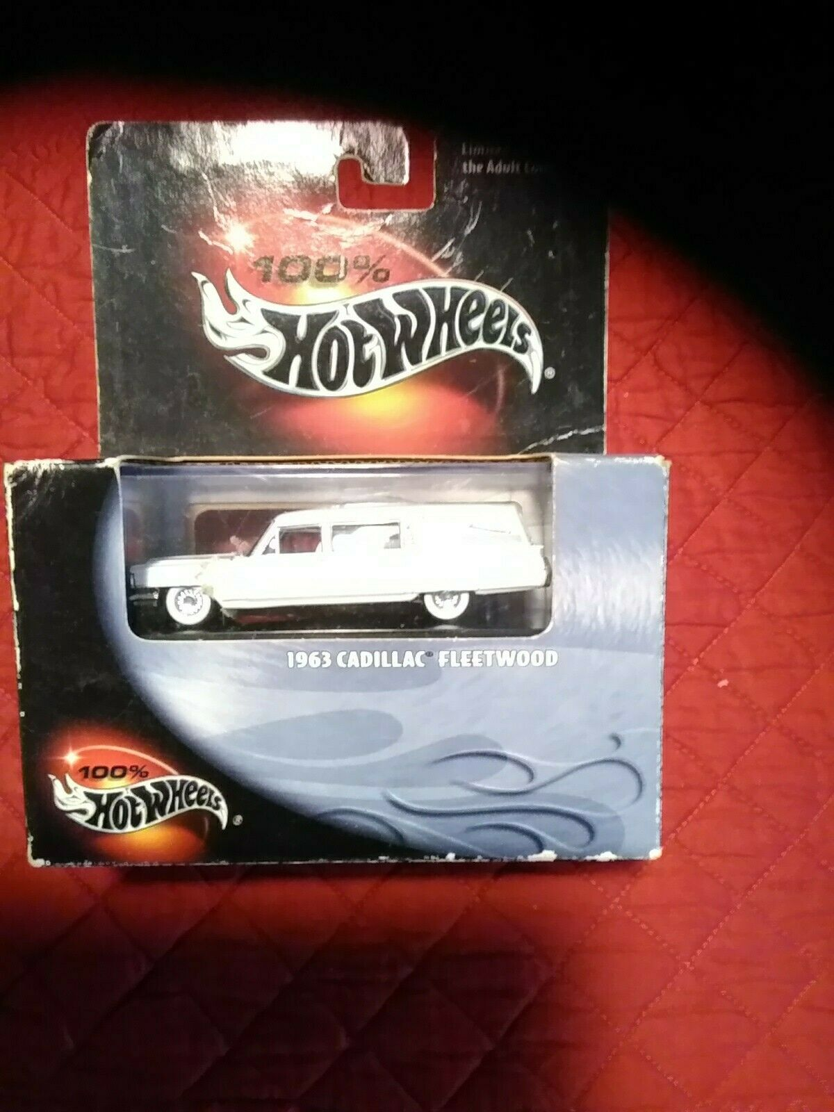 Hotwheels 100% schwarz box new in box Cadillac  Hearse Weiß 1 64