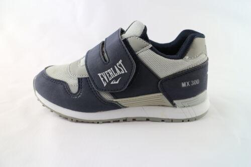 scarpe bambino EVERLAST 30 sneakers blu pelle nabuk grigio tessuto DK53
