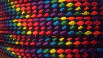"Boat Parts Just 3/4"" X 200 Ft Hollow/flat Braid Polyester Rope .high Quality.us Made"