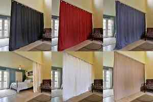 1 ROOM DIVIDER PANEL CURTAIN SOLID UNLINED ECLIPSE BLACKOUT DRAPE