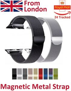 For-Apple-Watch-Metal-Strap-Milanese-Magnetic-Loop-Band-Steel-Edition