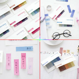 100Pages Sticky Notes Office Bookmark Marker Memo Index Flags Strip Sticker DIY