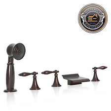 sprayer for bathtub faucet. Oil Rubbed Bronze Waterfall Roman Tub Bathtub Faucet with Hand Shower Spray With