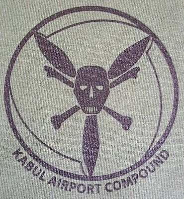 CIA SPECIAL OPS GRP AIR BRANCH KABUL AFG AIR COMPOUND OD GREEN MORALE T-SHIRT