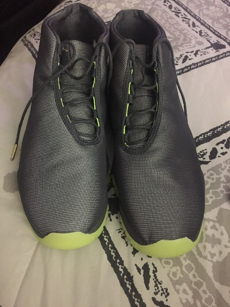 Nike Jordan Future Grey Reflective Shoes Volt Green