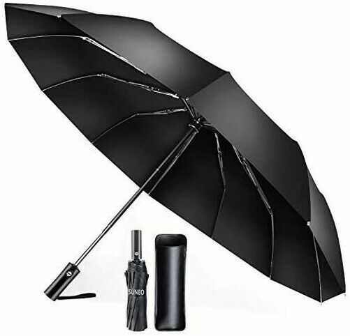 [TSUNEO] Folding Umbrella 12-Bone Windproof Umbrella Automatic Opening and Clos
