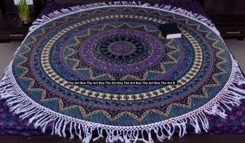 Bohemian Mandala Round Beach Tapestry Hippie Throw Yoga Mat Towel Indian Roundie