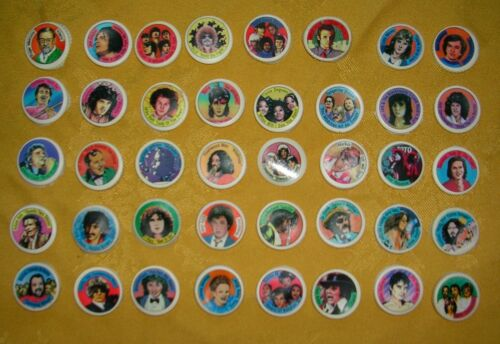 Coca Cola Knibbelbilder 40 Pop Stars 1983 Complete Collectible Pictures Cap