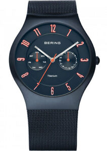 Bering-Men-039-s-Watch-11939-393-Analog-Stainless-Steel-Dark-Blue