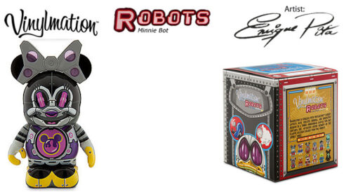 "New Disney Vinylmation 3/"" Robots 3 Series MINNIE MOUSE BOT w//Box 1 2 4-Fast Ship"