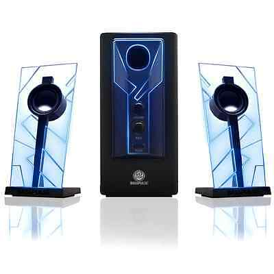 Glowing Computer Speakers Desktop Surround Sound Audio System BASS Subwoofer NEW