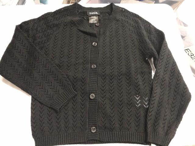 3d10eb458 ZUNIE Girls Knit Cardigan / Black /xs 3/4 for sale online | eBay
