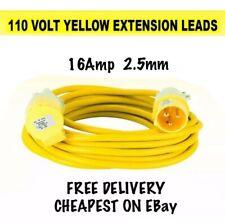 110V 20m Extension Cable Lead 32 Amp 110 Volt 2.5mm