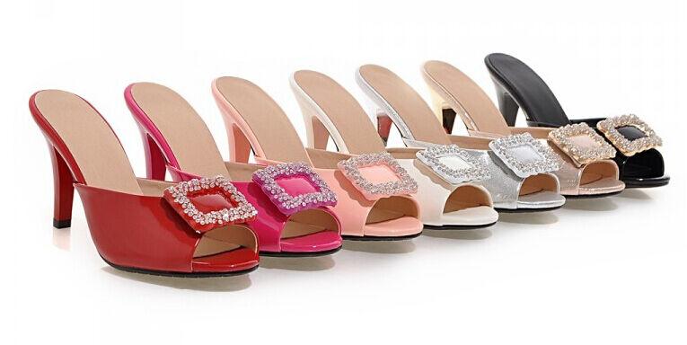 Zapatos zapatillas zuecos sandalias talón perno 8.5 cm tacón de aguja 9288
