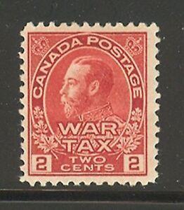 Canada-MR2-1915-2c-King-George-V-War-Tax-Issue-Unused-HR