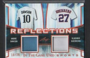 2018-LEAF-IN-THE-GAME-USED-VLADIMIR-GUERRERO-ANDRE-DAWSON-DUAL-JERSEY-10-20