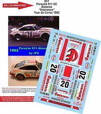 Decals 1/43 réf 817 Porsche 911 Sc Almeras  Tour de Corse 1979