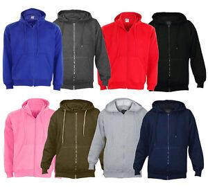 Mens-Fleece-Plain-Hoodie-Sweatshirt-Hooded-Zipper-Top-Jumper-Big-Sizes-S-To-6XL