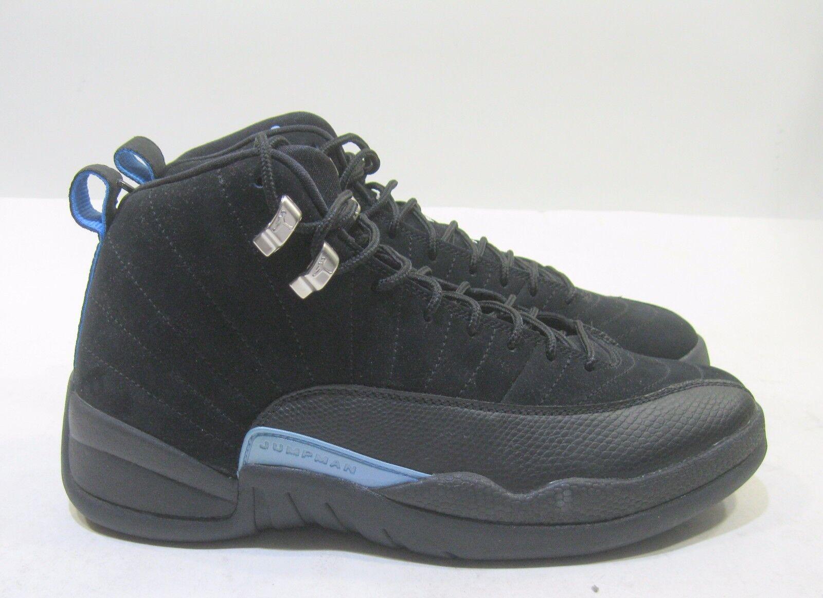 best website 4f0f3 8eb7a Nike Hombre Air Jordan 12 retro nubuck negro       Blanco Universidad Azul  Sue cómodo