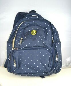 Details About Cateep Waterproof Travel Diaper Backpack W Changing Pad Navy Polka Dot