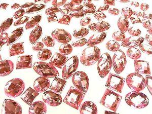 80 Bébé Rose à facettes acrylique sew on- Bâton Sur Strass Cristal Strass Gems-afficher le titre d`origine accT4bY9-07215017-219583330