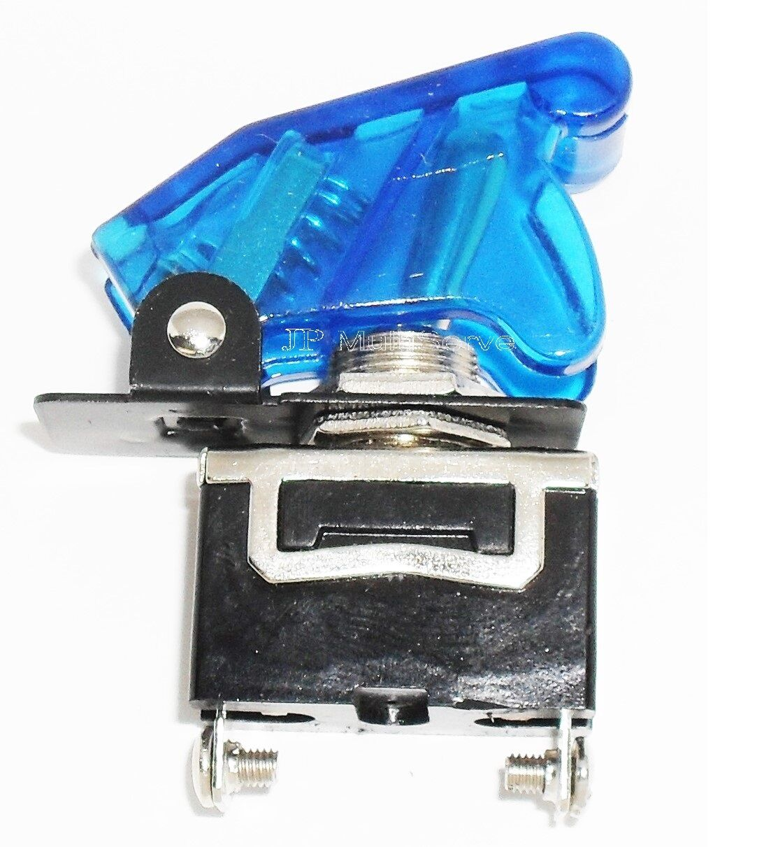 1 SPST On/Off Full Size Toggle Switch with TRANSPARENT BLUE Safety Cover