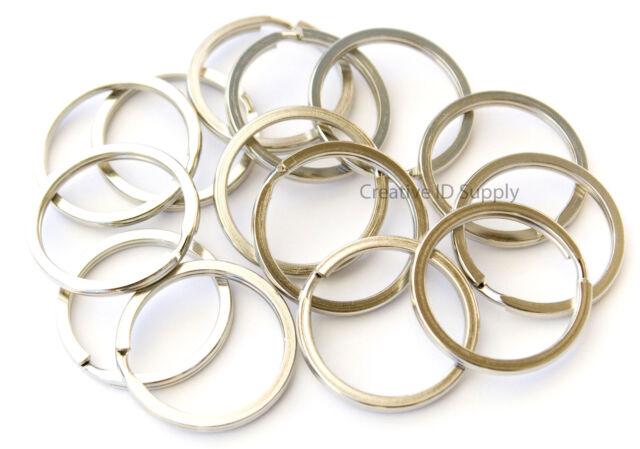 10 PCS 25mm Metal Keys Rings Split Ring Heavy Duty Keychains Accessories Gifts