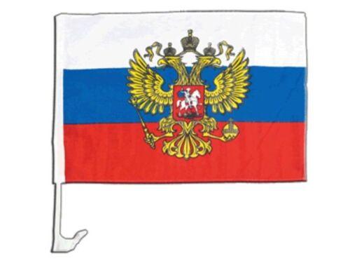 La Russia con Aquila Stemma Auto Bandiera Auto Bandiera Bandiere Auto Bandiere 30x40cm