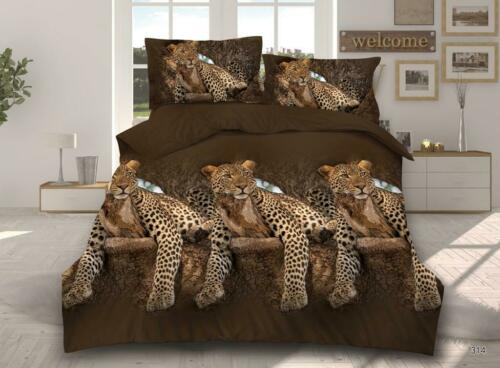 Quilt Cover,Fitted Sheet /& Pillow cases 3D Effect 4 Piece Bedding Complete Set