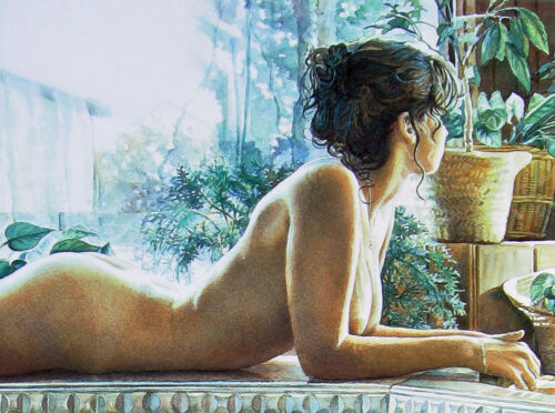 "Steve Hanks /""Reflecting/"" 16/""h x 12/'w /& 24/""h x 18/""w images two sizes digital"