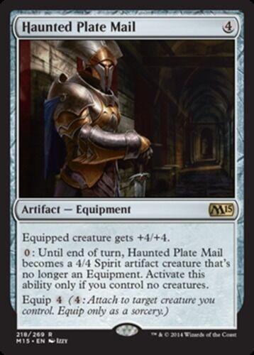 4x Haunted Plate Mail NM-Mint English Magic 2015 MTG Magic