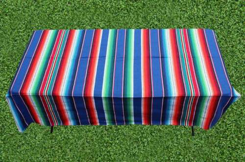 sarape extra large picnic blanket sand beach mat pad rug outdoor home blue taco