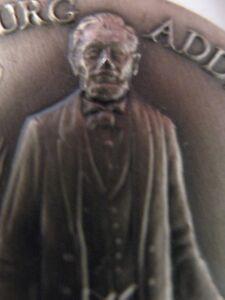 1 Oz 925 Longines Silver Abe Lincoln 1863 Gettysburg