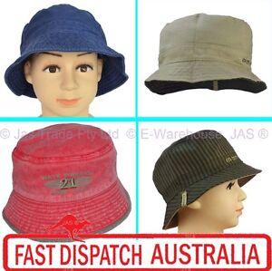 1 Kid Child Boy Toddler Bucket Cotton Sun Wide Brim Hat Cap 5 Sizes ... 49a8d1498349