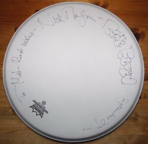 13-25-inch-Remo-drum-head-hand-signed-to-Mel-by-Nick-Mason-of-Pink-Floyd