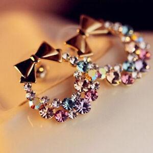 New-Fashion-1pair-Ear-Stud-Women-Lady-Elegant-Crystal-Rhinestone-Earrings-Gift