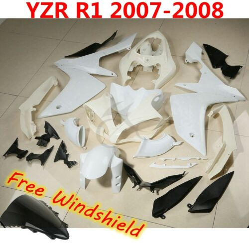 Unpainted Fairing Bodywork For Yamaha YZF R1 98-99 00-01 02-03 04-06 07-08 09-11