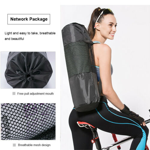 15MM THICK NBR YOGA MAT 183x61cm FOR PILATES GYM EXERCISE FREE Carry Strap /& Bag