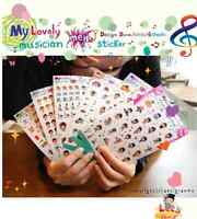 43 Cute Music Cartoon Pvc Stickers Notebook Diary Decoration 6 Sheets