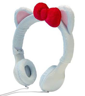 NEW Hello Kitty Decal & White Headphone Kit for iPhone,iPad,Android Smart Phones