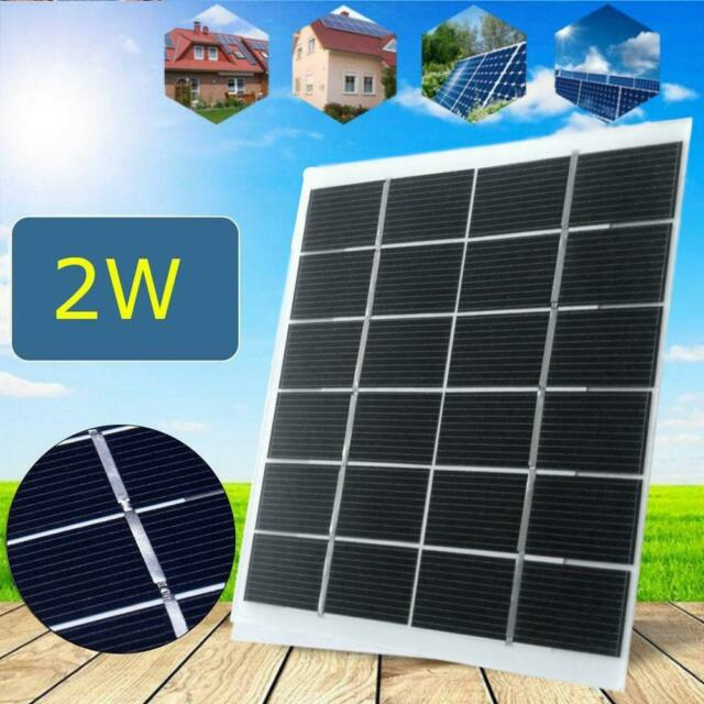 4.2w Solar Panel 12V DIY Mini System Portable Battery Cell Phone Charger 1.5w